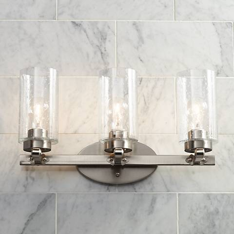 "Holman 19 1/2"" Wide Brushed Nickel 3-Light Bath Light"