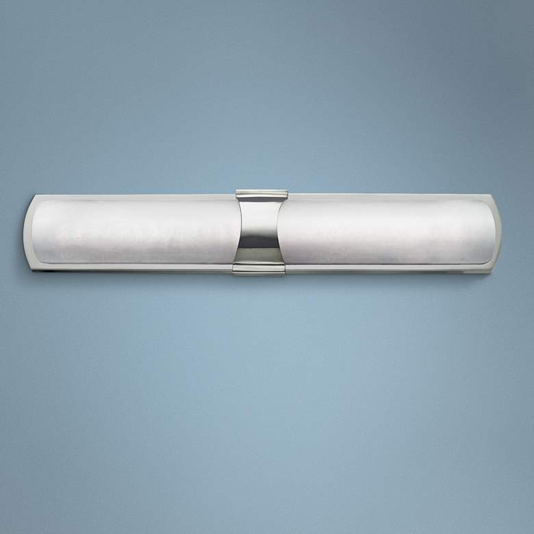 "Valencia 26"" High Polished Nickel 2-LED Wall Sconce"