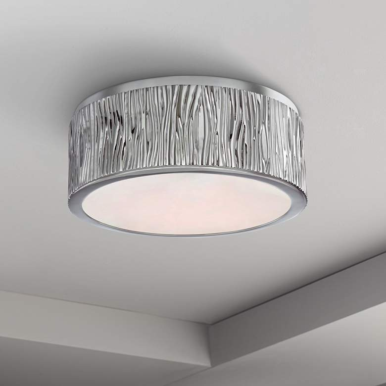 "Hudson Valley Crispin 9""W Polished Nickel LED Ceiling"