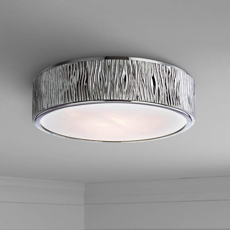 "Hudson Valley Crispin 13""W Polished Nickel LED Ceiling"