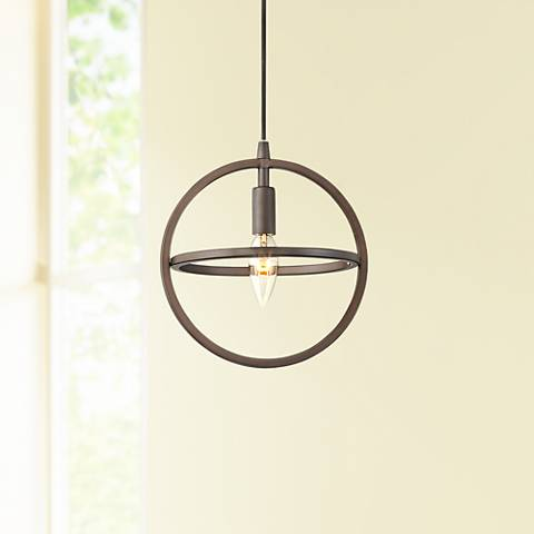 "Possini Euro Glisan 8 3/4"" Wide Bronze Mini Pendant"