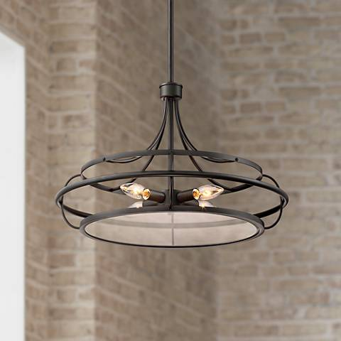 "Possini Euro Braxton 20"" Oil Rubbed Bronze 4-Light Pendant"