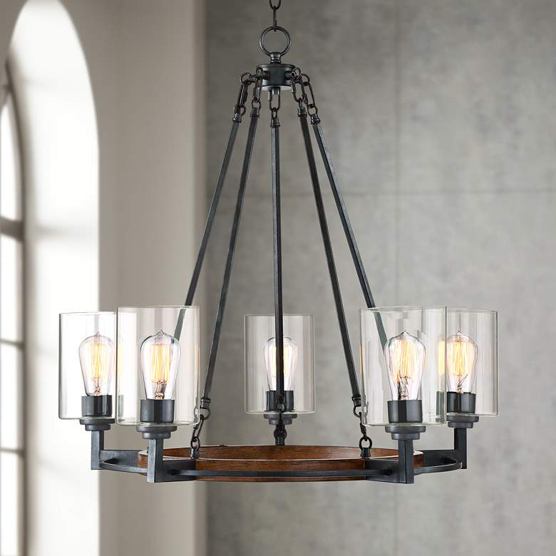 "Garamond 26 3/4"" Bronze 5-Light Chandelier"