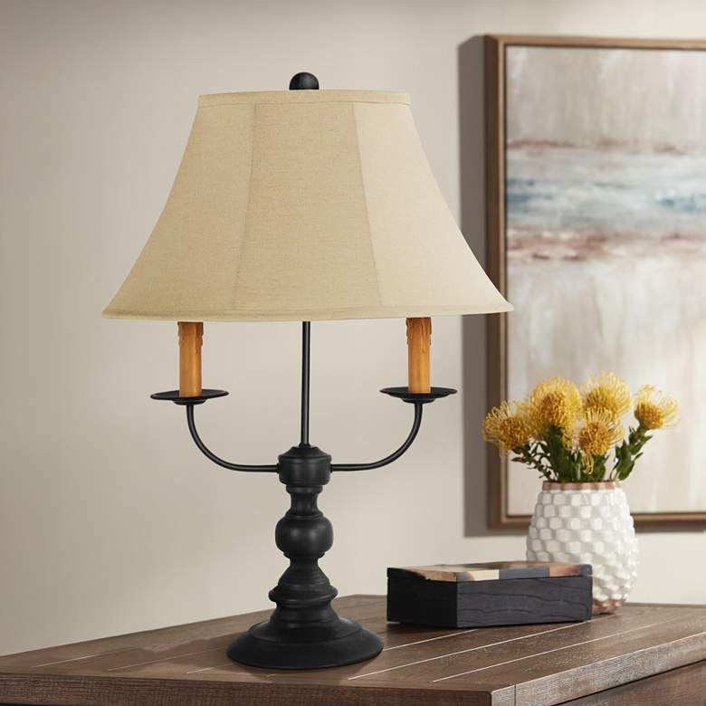 Bayfield Black Candelabra Arm 3-Light Table Lamp