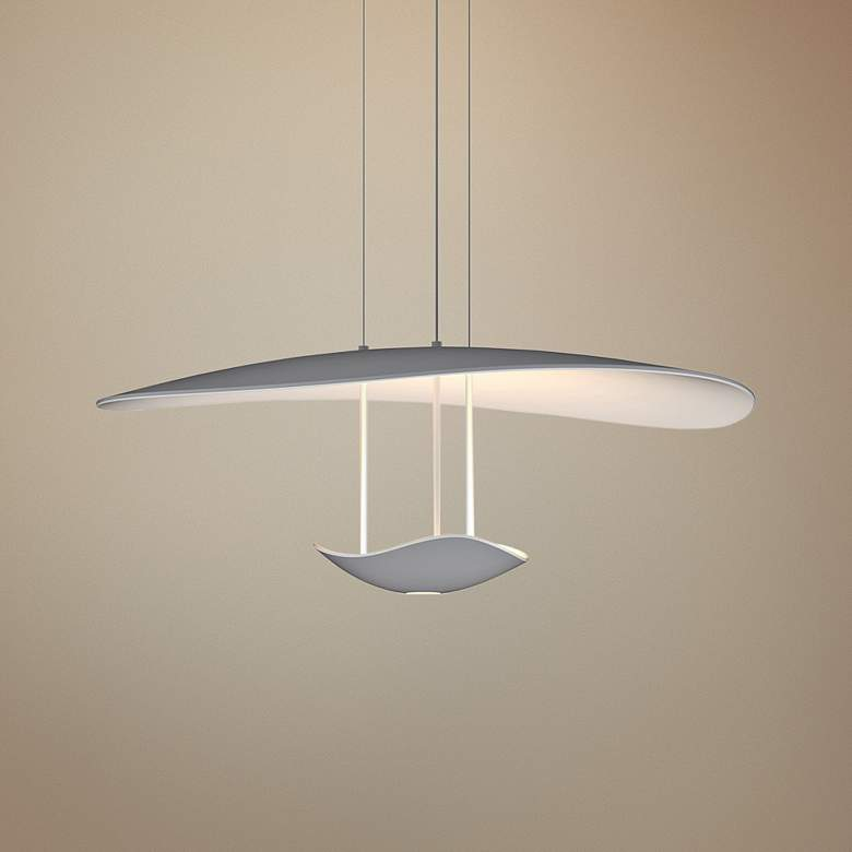 "Infinity Reflections 27 3/4""W Dove Gray LED Pendant Light"