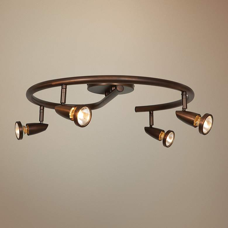 Mirage 4-Light Bronze Spiral LED Track Fixture