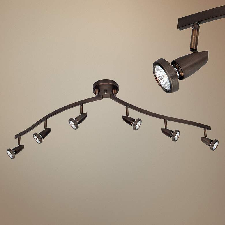 Mirage 6-Light Bronze Adjustable LED Track Fixture