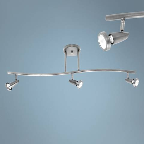 Mirage 3-Light Brushed Steel LED Track Fixture