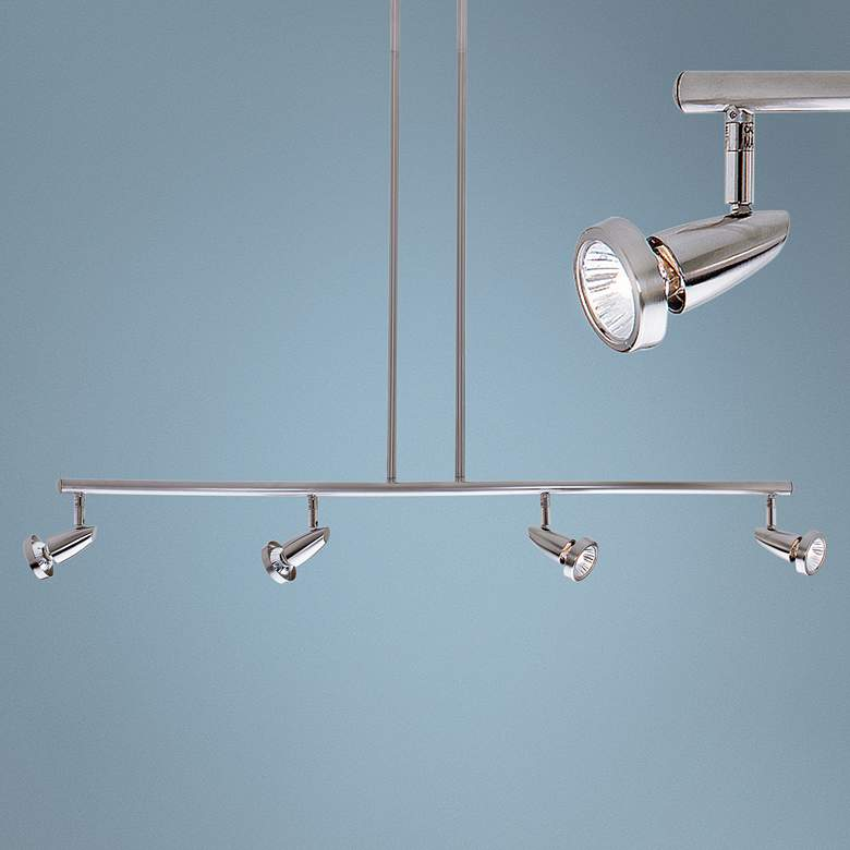 Mirage 4-Light Brushed Steel LED Track Fixture