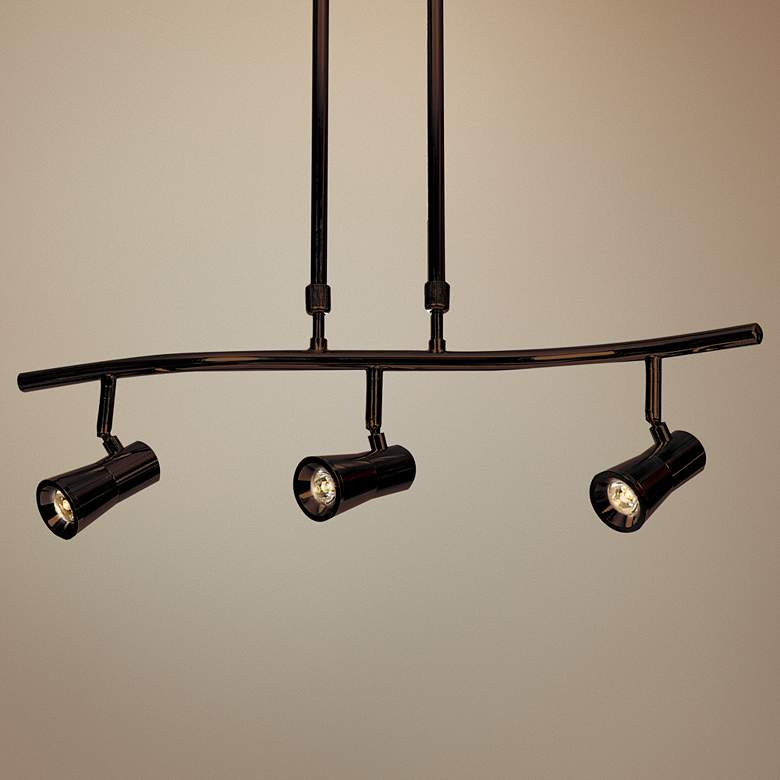 Sleek 3-Light Bronze Extendable LED Track Fixture