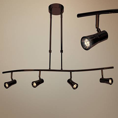 Sleek 4-Light Bronze Extendable LED Track Fixture