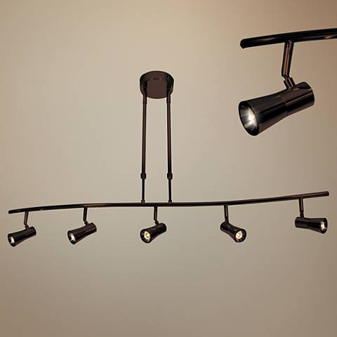 Sleek 5-Light Bronze Extendable LED Track Fixture