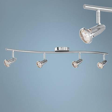 Cobra 4-Light Brushed Steel Wave LED Track Fixture