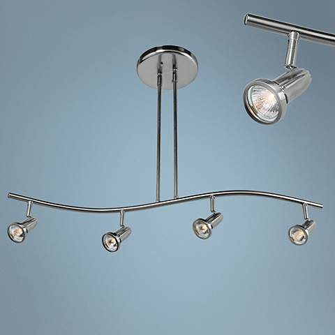 Cobra 4-Light Brushed Steel LED Track Fixture