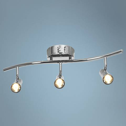 Sleek 3-Light Brushed Steel LED Track Fixture