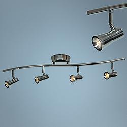 Sleek 4-Light Brushed Steel LED Track Fixture