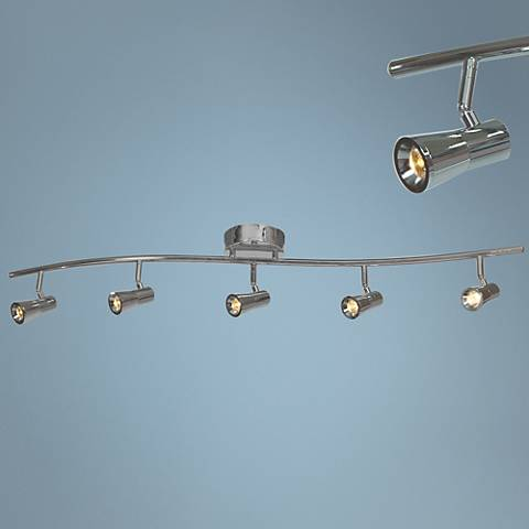 Sleek 5-Light Brushed Steel LED Track Fixture