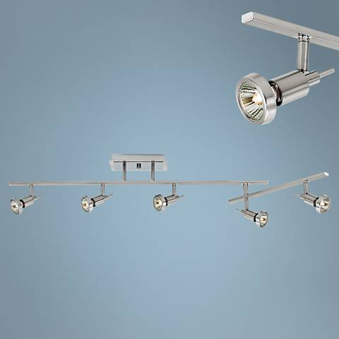 Viper 5-Light Brushed Steel LED Track Fixture