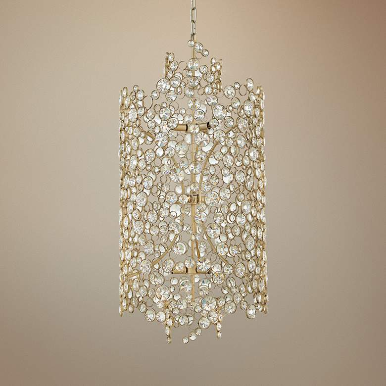 "Hinkley Anya 20"" Wide Silver Leaf Pendant Light"