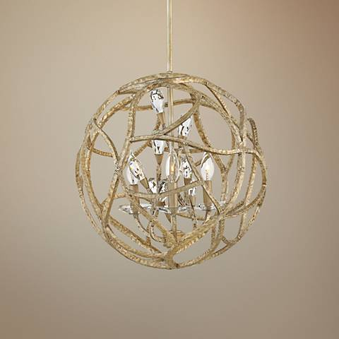 "Hinkley Eve 18"" Wide Champagne Gold 3-Light Chandelier"