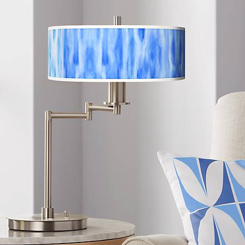 Blue Tide Giclee CFL Swing Arm Desk Lamp