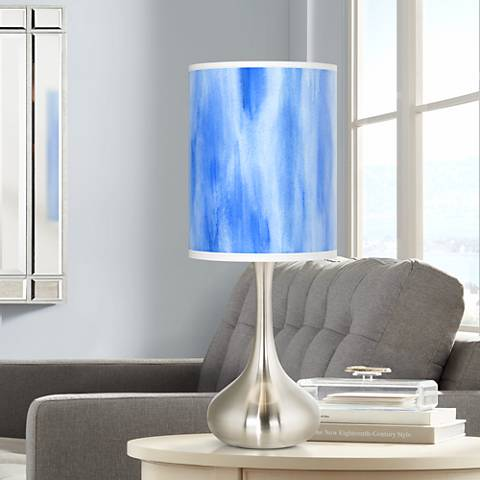 Blue Tide Giclee Droplet Table Lamp