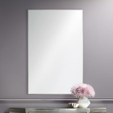 "Crake Stainless Steel 24"" x 36"" Rectangular Wall Mirror"