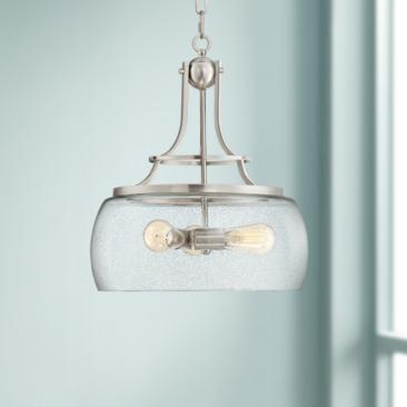 "Charleston 16"" Wide Satin Nickel 3-Light LED Pendant Light"