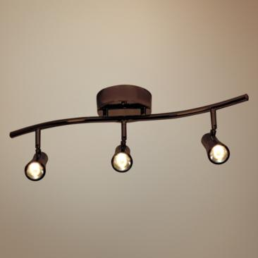 Access Lighting Sleek 3-Light Bronze LED Track Fixture