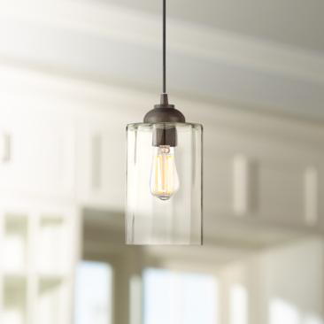 "Possini Euro Hawthorne 5 1/4"" Wide Bronze LED Mini Pendant"