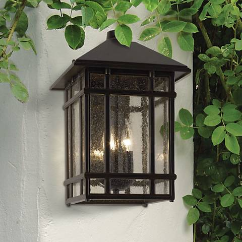 "J du J Sierra Craftsman 15"" High Bronze Outdoor Wall Light"