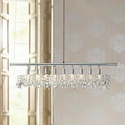 James R. Moder Broadway Crystal Bar Island Chandelier