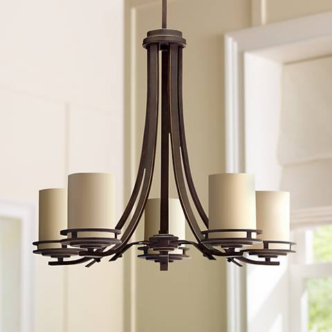 "Hendrik Bronze 24 1/2"" Wide 5-Light Chandelier"