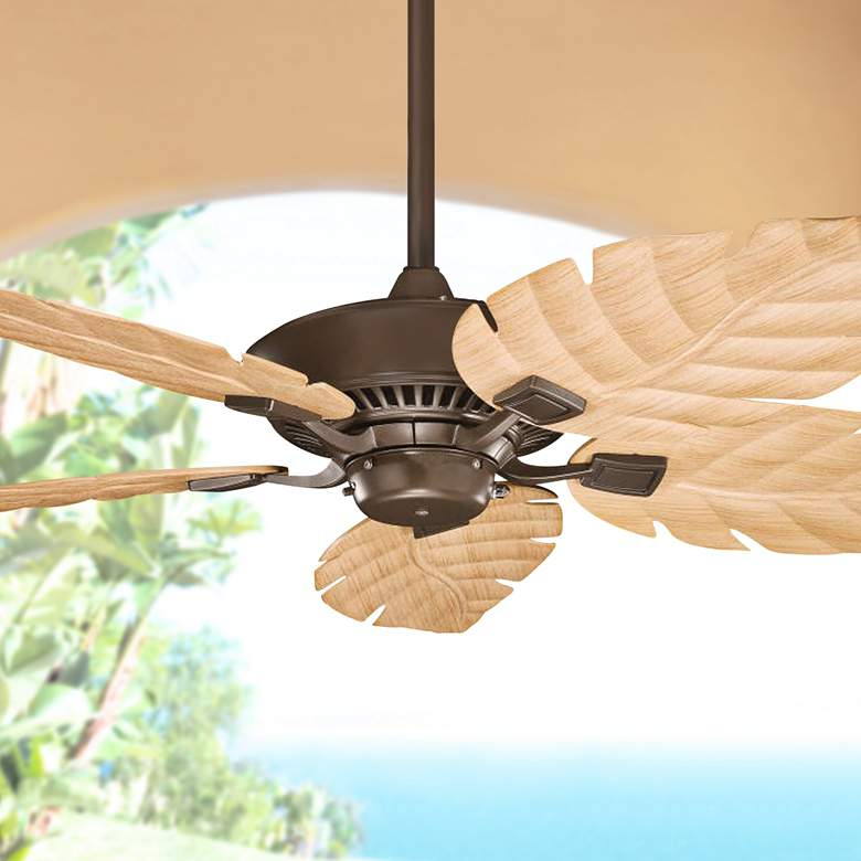 "52"" Canfield Climates™ Mocha - Oak Outdoor Ceiling"