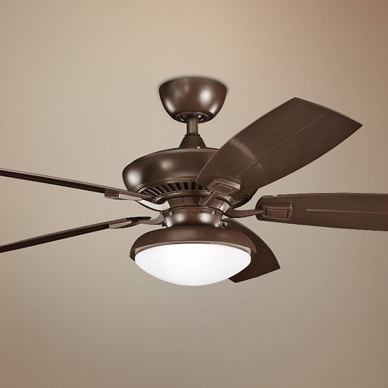 "52"" Canfield Climates™ Mocha Light Outdoor Ceiling Fan"