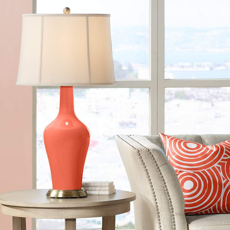 Daring Orange Anya Table Lamp