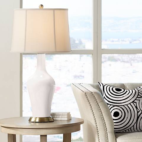 Smart White Anya Table Lamp