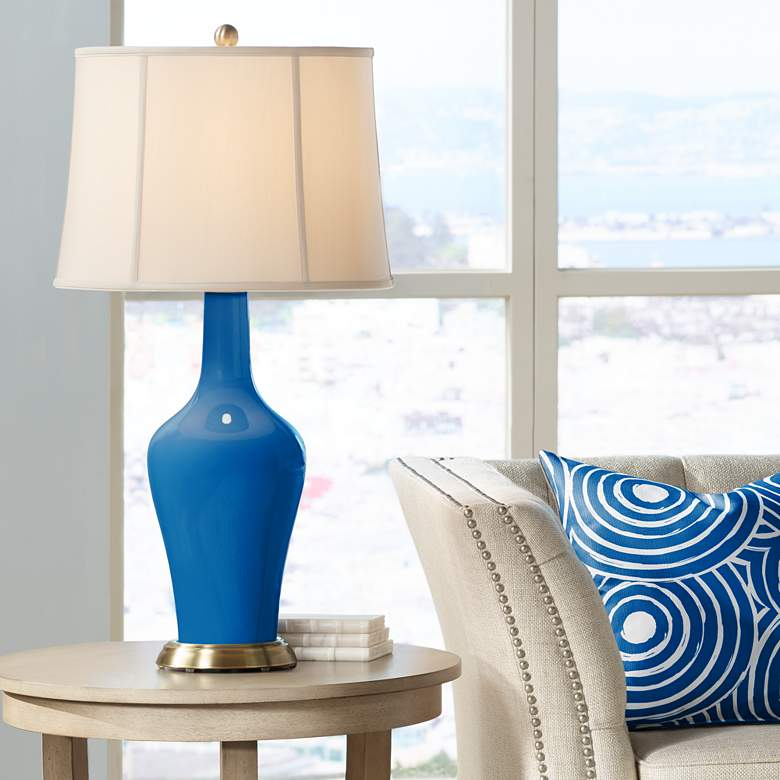 Hyper Blue Anya Table Lamp by Color Plus
