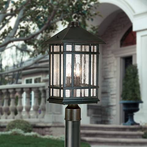 "J du J Sierra Craftsman 100"" High Direct Burial Post Light"