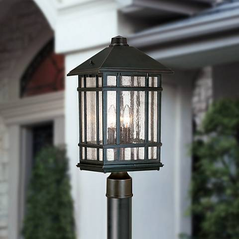 "J du J Sierra Craftsman 18"" High Outdoor Post Mount Light"