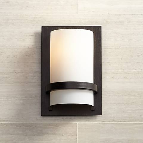 "Minka Lavery Contemporary 10"" High Iron Oxide Wall Sconce"