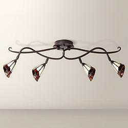 Pro Track® Tiffany Glass Scroll Ceiling Track Light