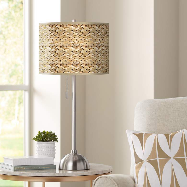 Seagrass Print Pattern Shade Table Lamp
