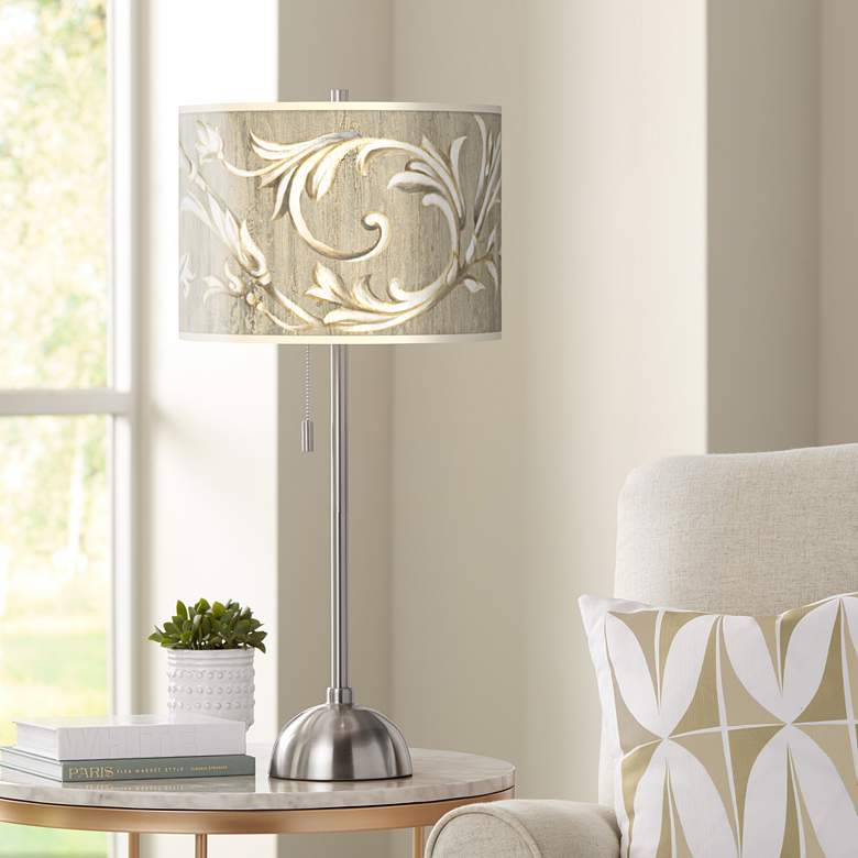 Laurel Court Brushed Nickel Contemporary Table Lamp