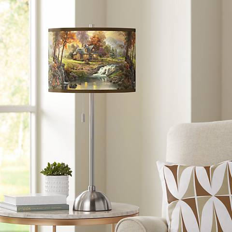 Thomas Kinkade Mountain Retreat Table Lamp