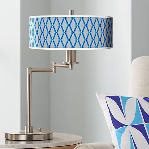 Bleu Matrix Giclee CFL Swing Arm Desk Lamp