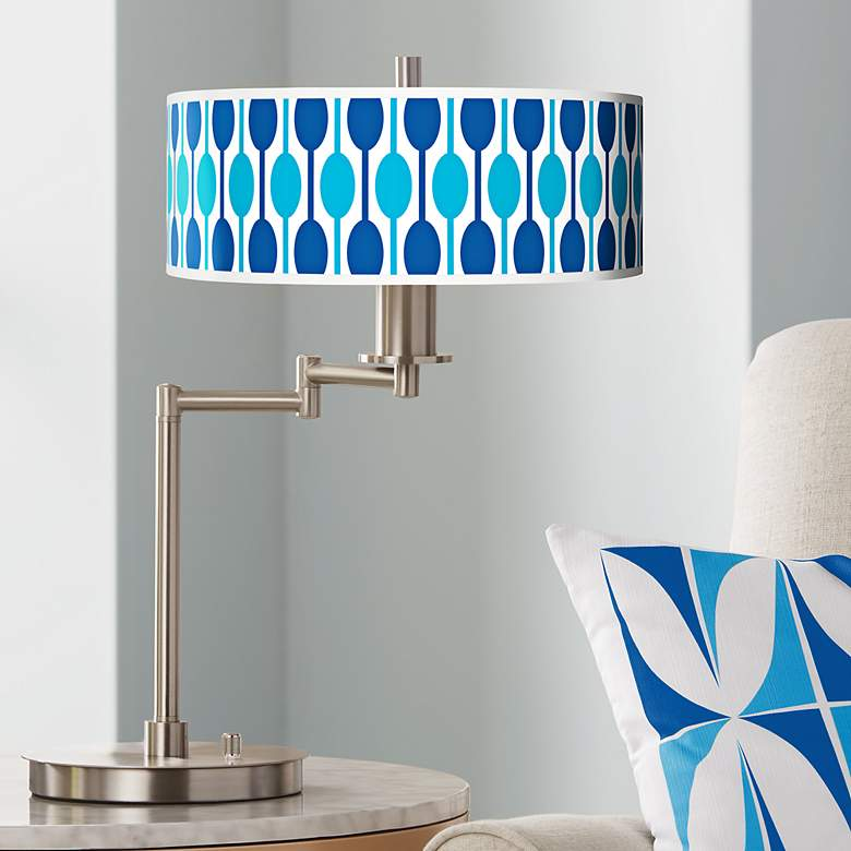 Jet Set Giclee CFL Swing Arm Desk Lamp