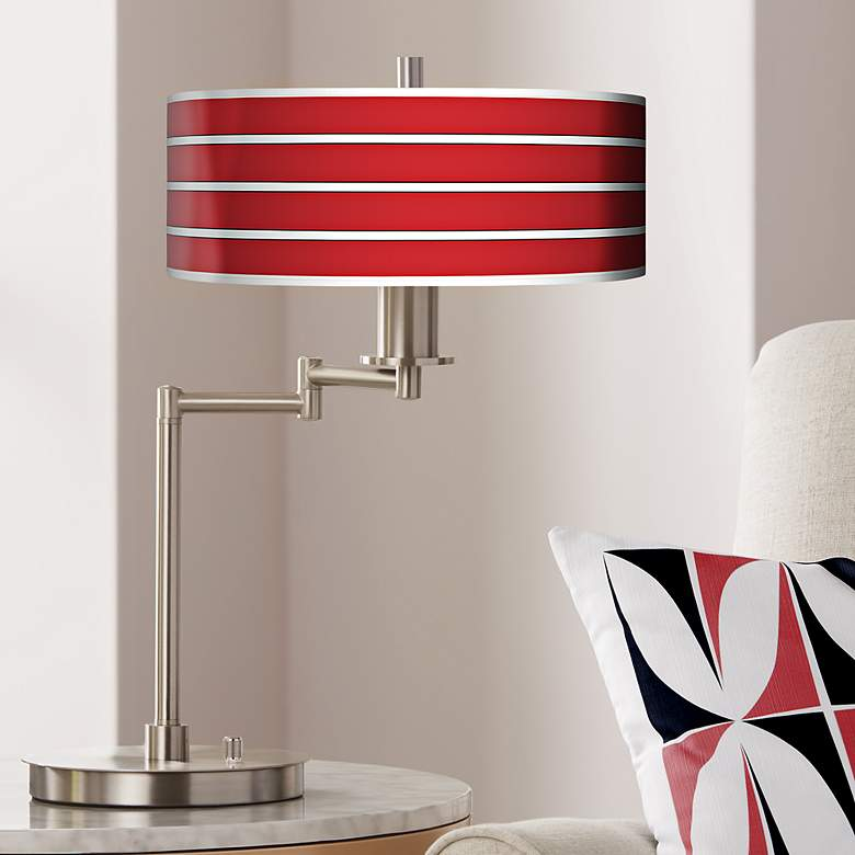 Bold Red Stripe Giclee CFL Swing Arm Desk