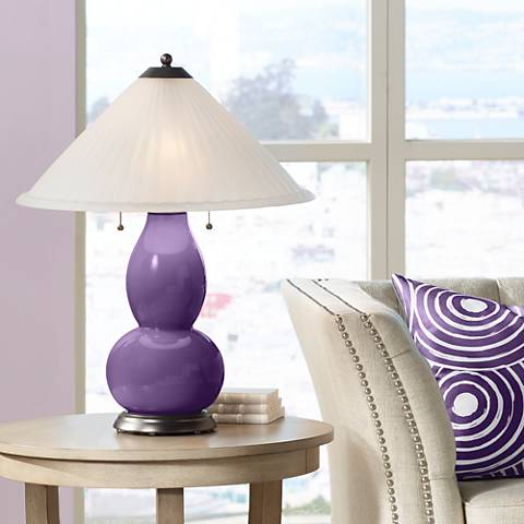 Acai Fulton Table Lamp with Fluted Glass Shade