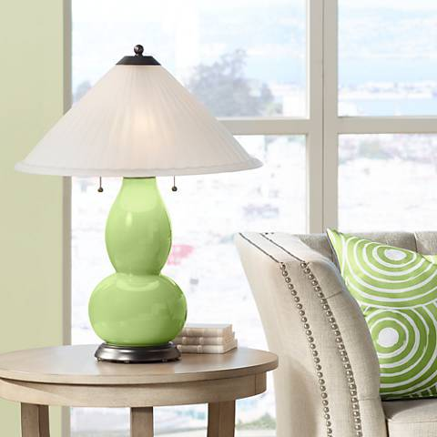 Lime Rickey Fulton Table Lamp with Fluted Glass Shade